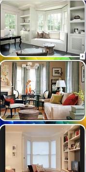 living room bay window poster