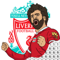 Football Logo Pixel Art - Color by Number