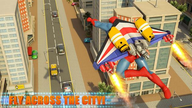 Flying Jetpack Crime City Hero Simulator poster