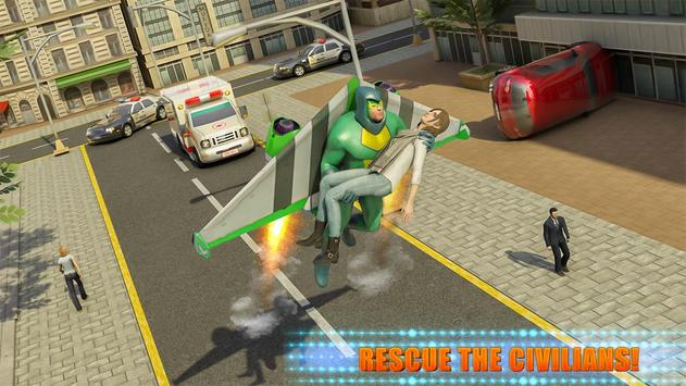 Flying Jetpack Crime City Hero Simulator screenshot 2