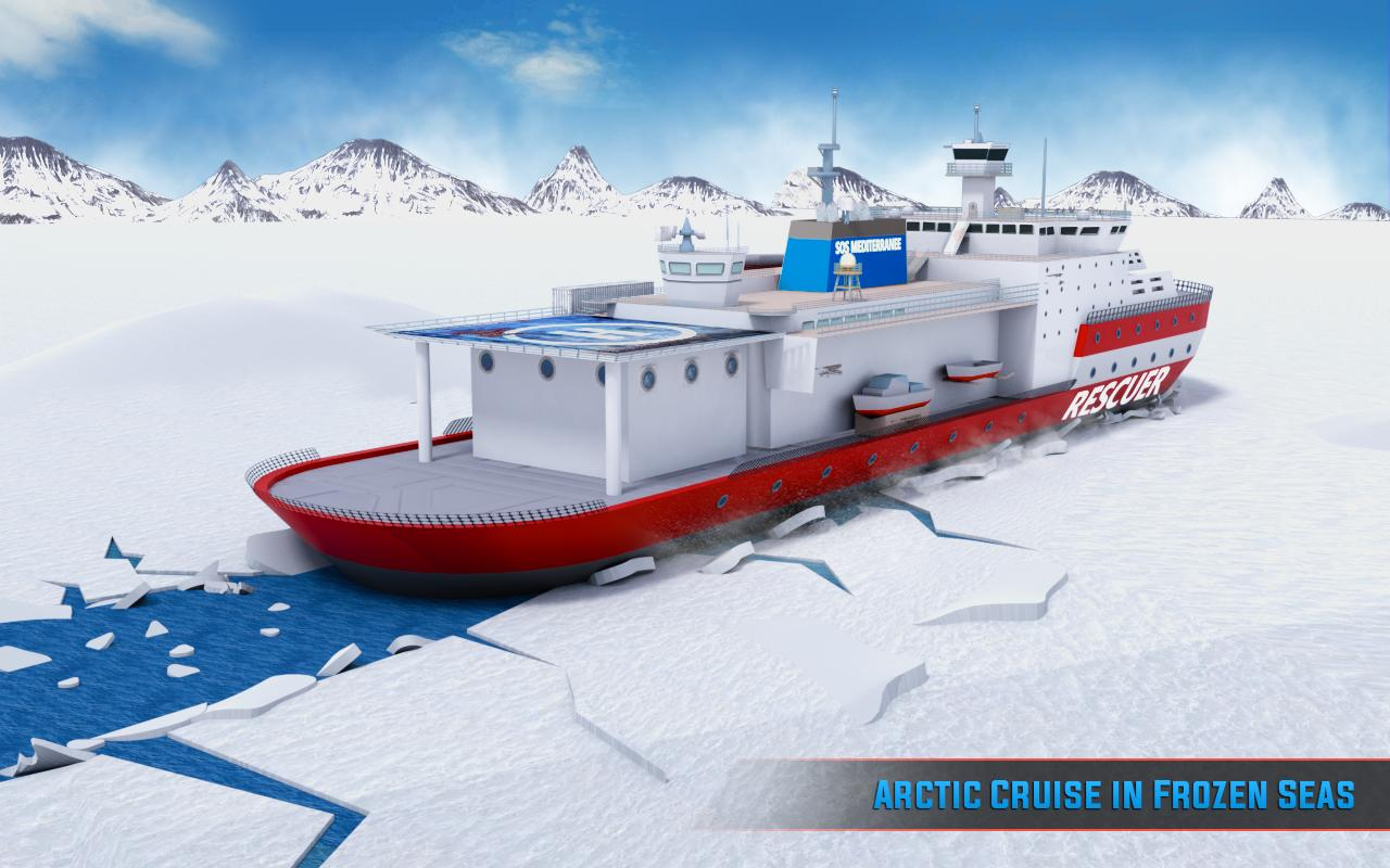 Arctic Ice Breaker Cruise Ship Driving Simulator for Android