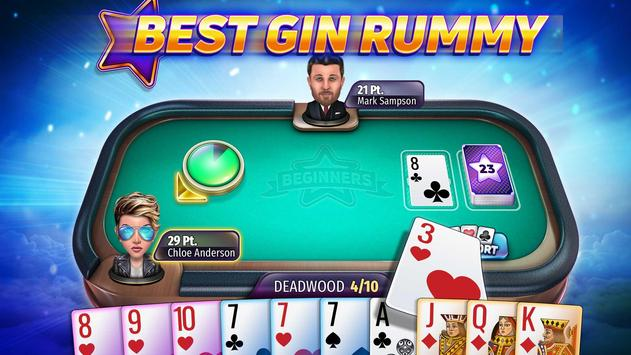 Gin Rummy Stars - Best Card Game of Rummy online! plakat