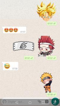 Otaku Anime Stickers para WhatsApp - WAStickerApps poster