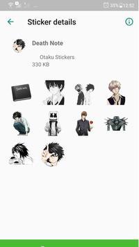 Otaku Anime Stickers para WhatsApp - WAStickerApps screenshot 1