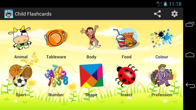 Child Flashcards poster
