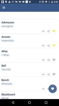 Word Book English To Zulu screenshot 2