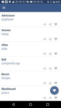 Word Book English To Cebuano screenshot 2