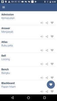 Word Book English To Malay screenshot 2
