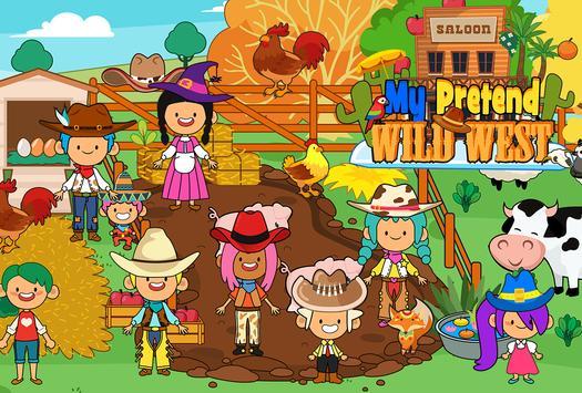 My Pretend Wild West - Cowboy & Cowgirl Kids Games تصوير الشاشة 7