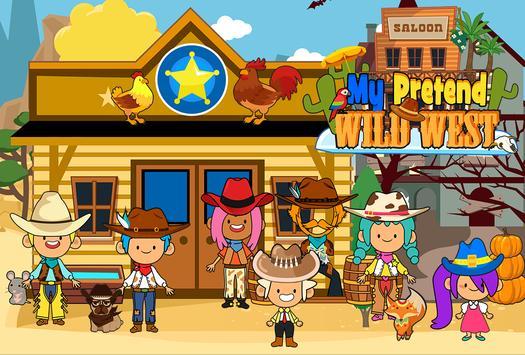 My Pretend Wild West - Cowboy & Cowgirl Kids Games الملصق