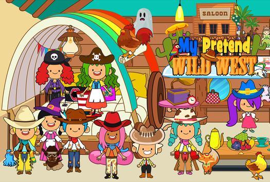 My Pretend Wild West - Cowboy & Cowgirl Kids Games تصوير الشاشة 3