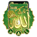Beautiful green Allah theme APK
