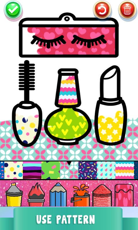 Beauty Drawing Pages Make Up Coloring Book Glitter für ...