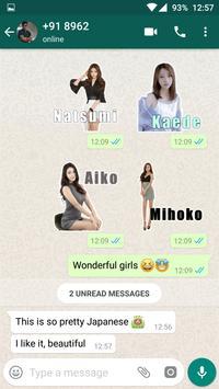 Beautiful Sexy Girls Stickers For WhatsApp screenshot 3