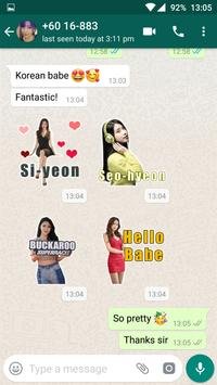 Beautiful Sexy Girls Stickers For WhatsApp poster