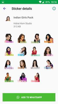 Beautiful Sexy Girls Stickers For WhatsApp screenshot 5