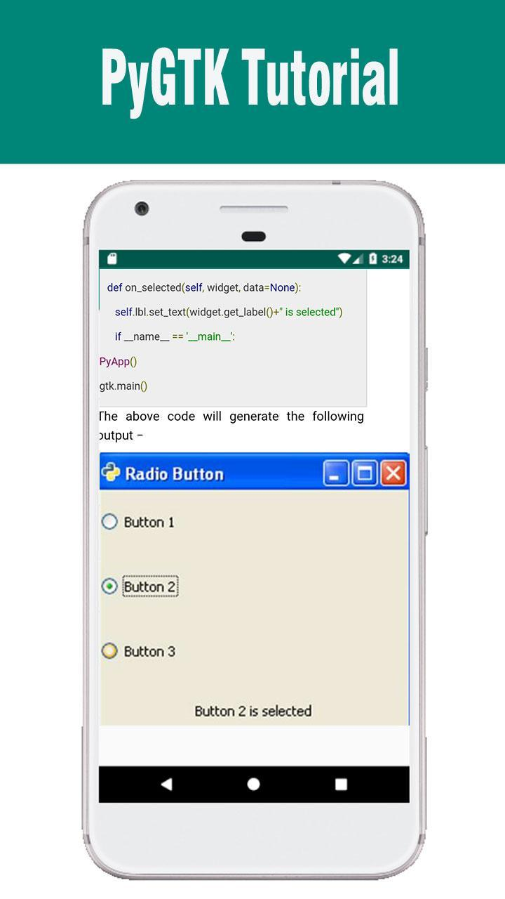 PyGTK Tutorial for Android - APK Download