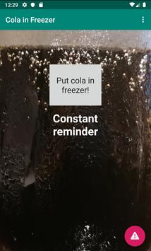 Cola in Freezer! poster