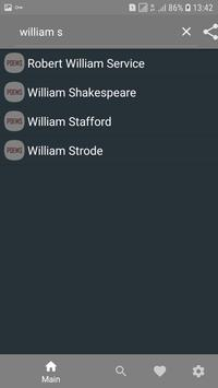 English poets with their poems screenshot 2