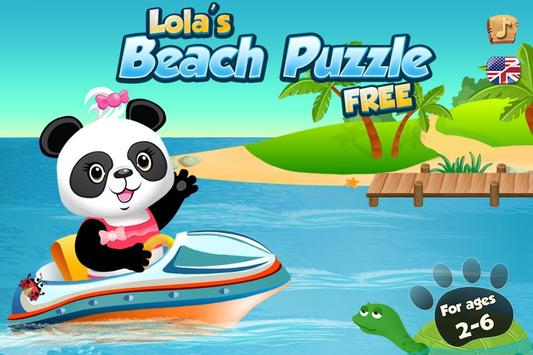 Lola's Beach Puzzle Lite poster
