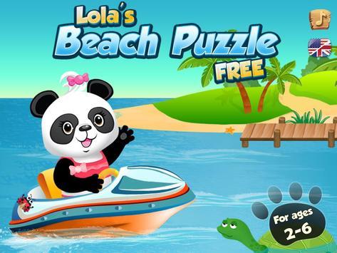 Lola's Beach Puzzle Lite screenshot 10