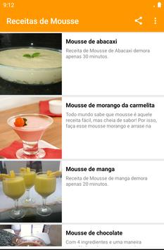 Receitas de Mousse screenshot 19