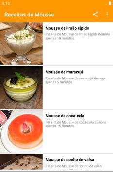 Receitas de Mousse screenshot 4