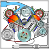 learn the basis of a motorbike engine icon