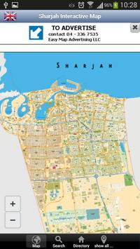 Sharjah Interactive Map poster