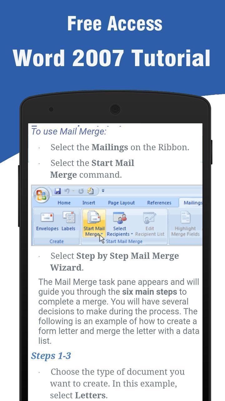 Learn Word 2007 for Android - APK Download