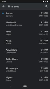 World Clock Widget screenshot 1