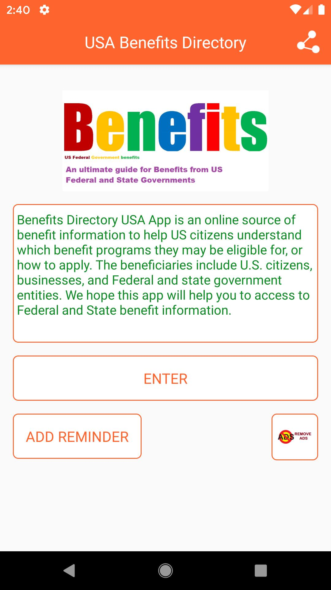 USA Benefits Guide- Federal & State Benefits Guide poster