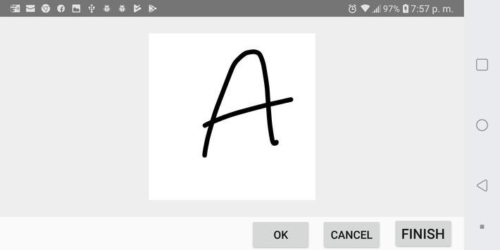 Autism handwriting screenshot 1