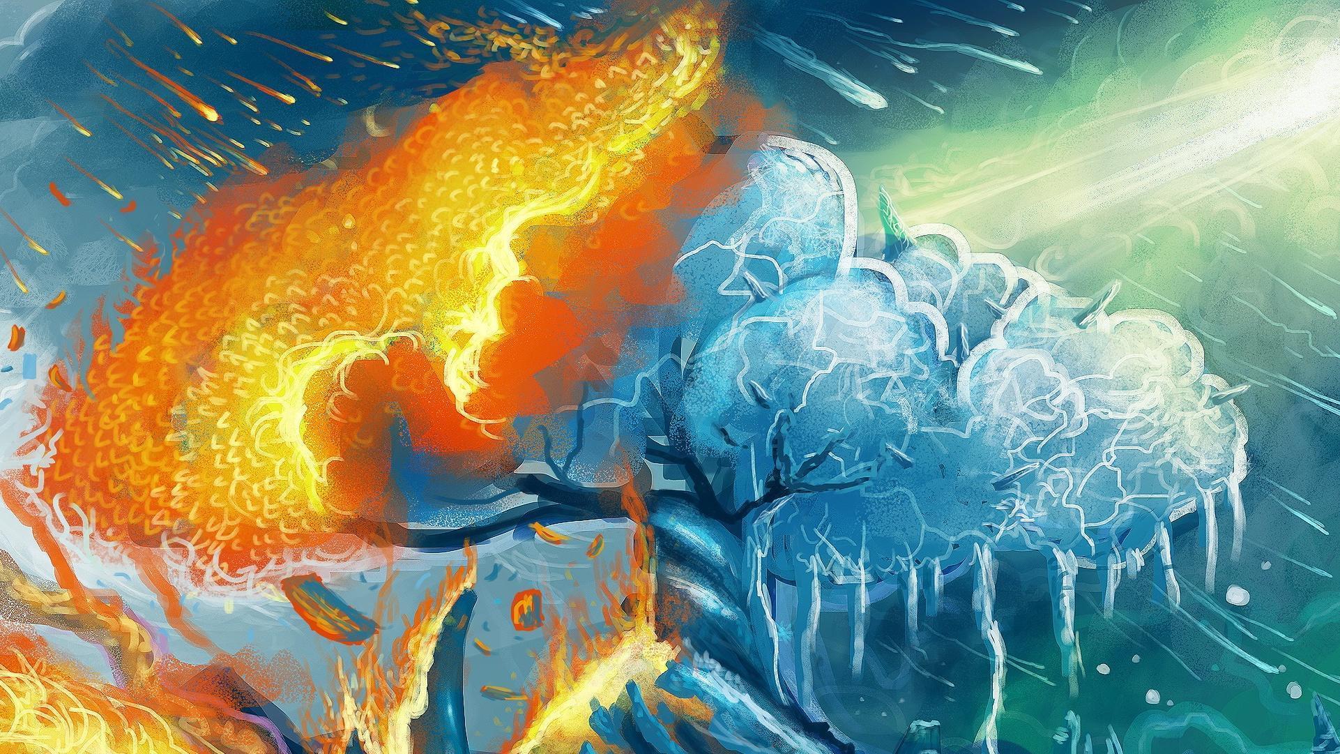 простой конструкции огонь и лед мифология в картинках которым нравится отмечать