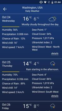 4 Schermata Previsioni del tempo