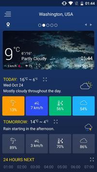 1 Schermata Previsioni del tempo