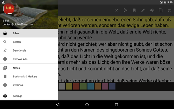 German Bible screenshot 16