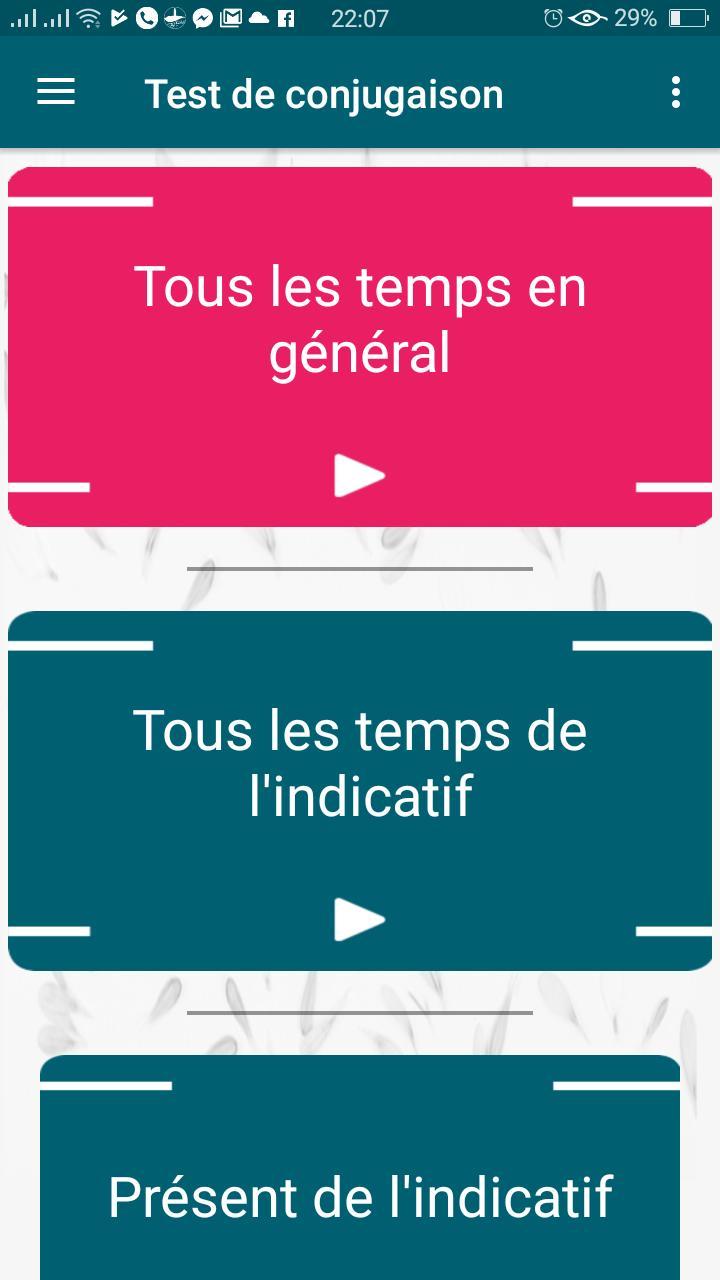 Jeu De Conjugaison Exercice De Conjugaison Verbe For Android Apk Download