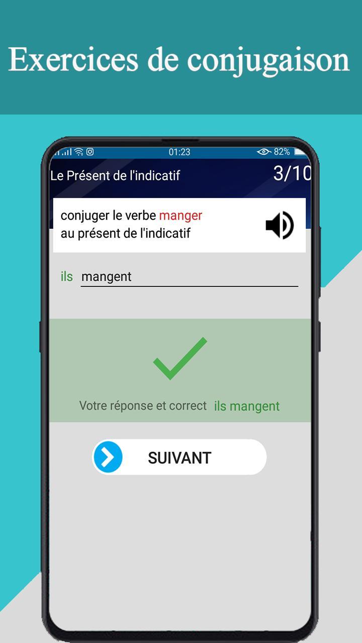 Conjugueur Et Exercices Conjugaison Francaise For Android Apk Download