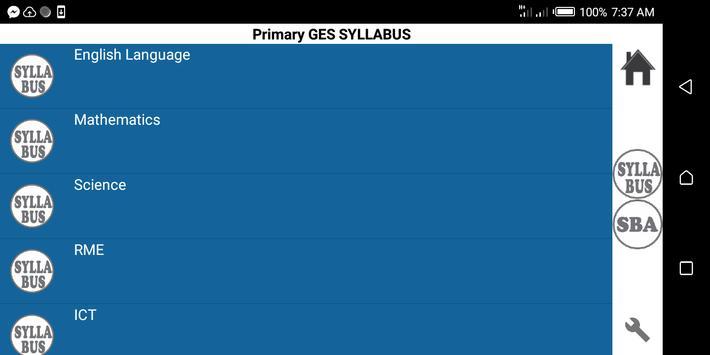 Primary Syllabus + SBA GES Ghana poster