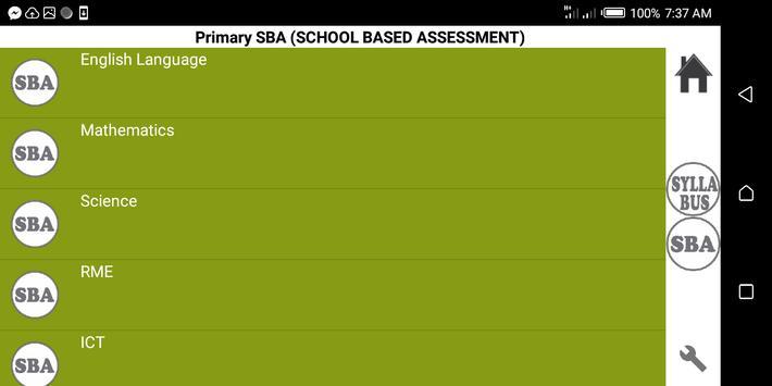 Primary Syllabus + SBA GES Ghana screenshot 1