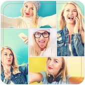 Cute Girl Collage icon