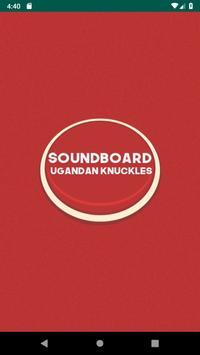 Soundboard ugandan knuckles poster