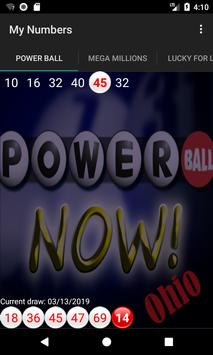 Powerball Now OH results screenshot 1