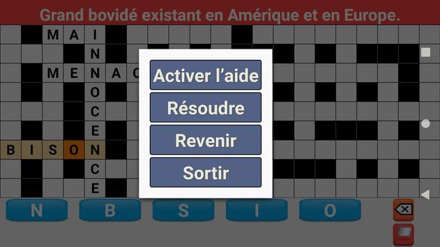 Mots Fléchés en Français syot layar 4