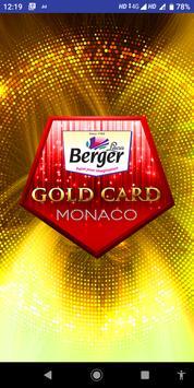 Berger Gold Card poster