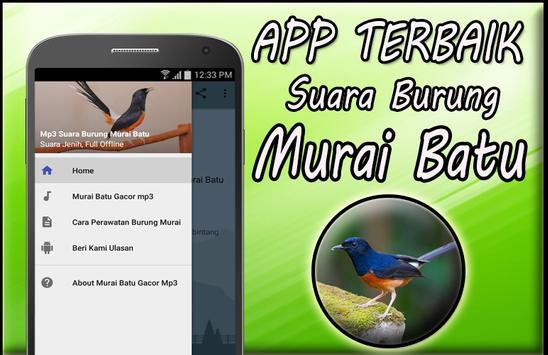 Masteran Murai Batu Mp3 Full Offline poster