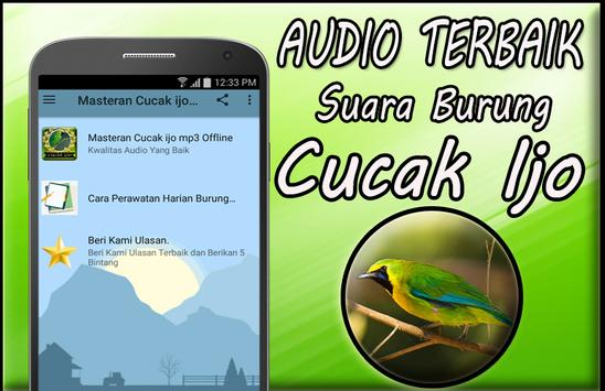 Masteran Cucak Ijo Gacor Mp3 Offline screenshot 1
