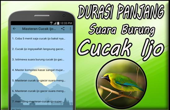 Masteran Cucak Ijo Gacor Mp3 Offline screenshot 2