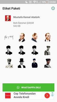 Atatürk Çıkartmaları - WhatsApp için WAStickerApps poster